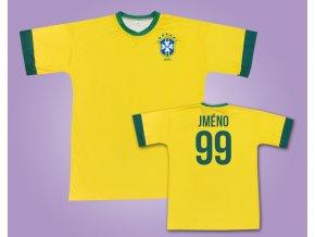 Fotbalový dres Brazilie s vlastním jménem