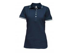 Tričko dámské polo modré