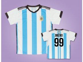 Fotbalový dres Argentina vlastní jméno