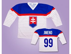 Hokejový dres Slovensko bílý vlastní jméno
