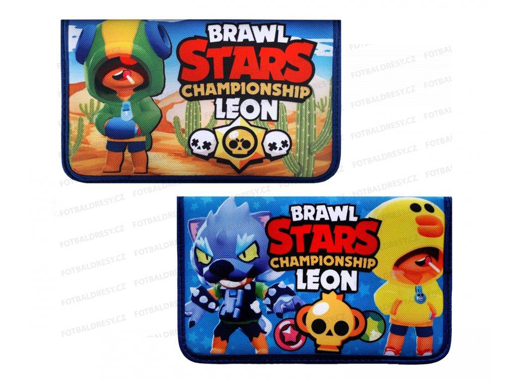 Penál školní 1-patrový 2 chlopně Brawl Stars championship Leon