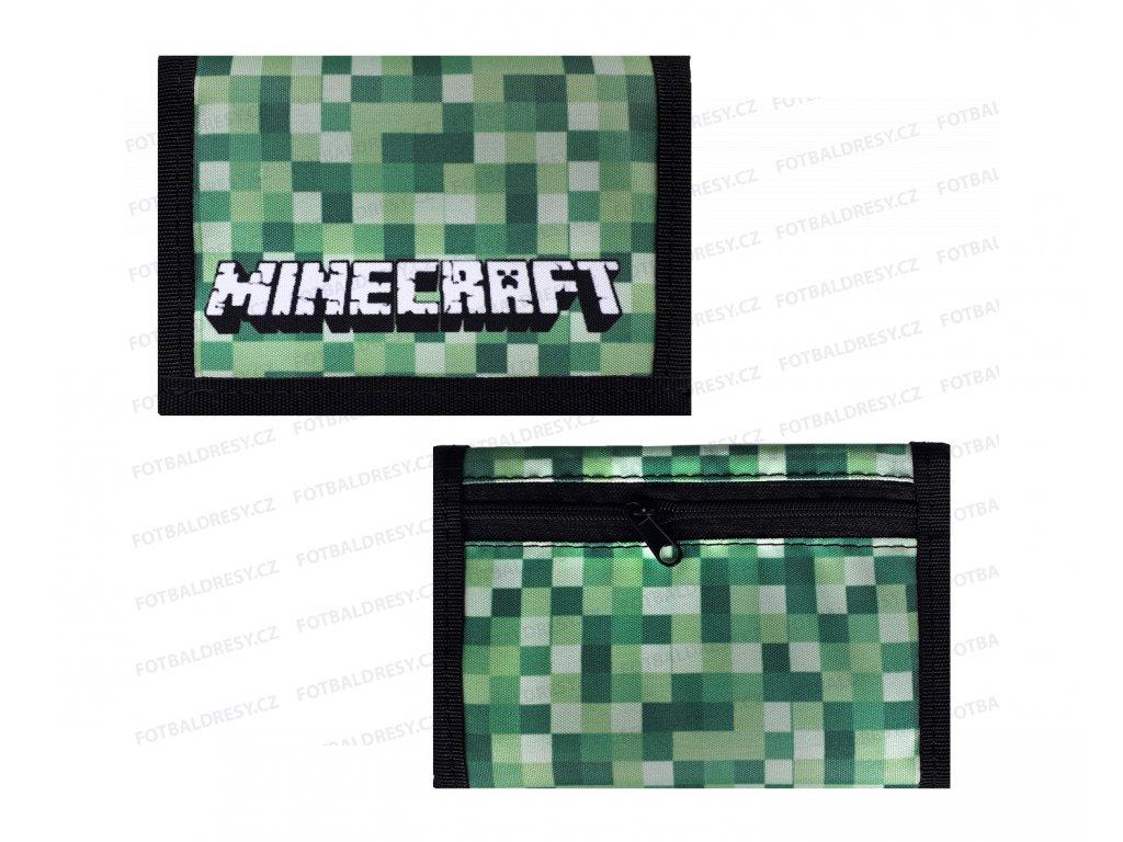 Peněženka Minecraft zelená