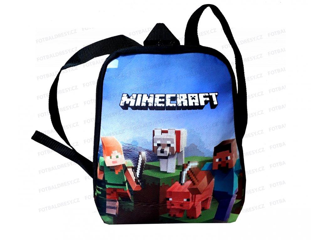 Batoh Minecraft pro nejmenší modrý