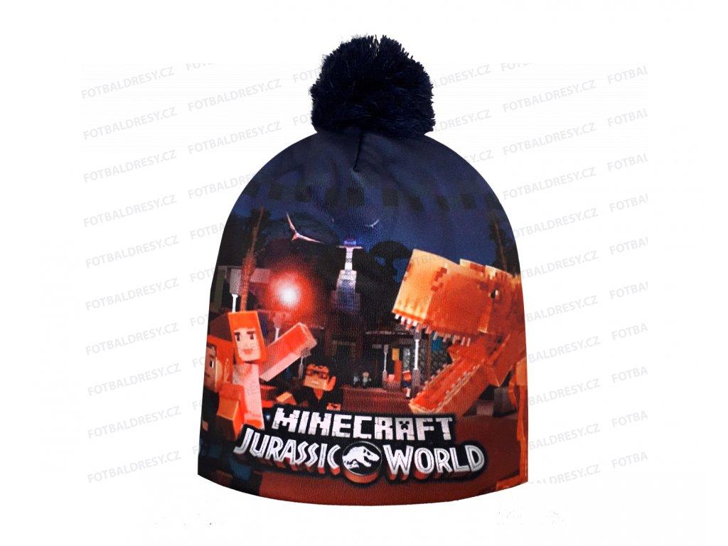 Čepice dětská Minecraft zimní Jurassic World