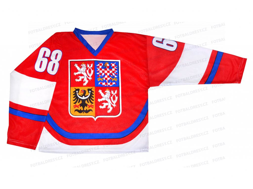 Hokejový dres ČR JÁGR červený