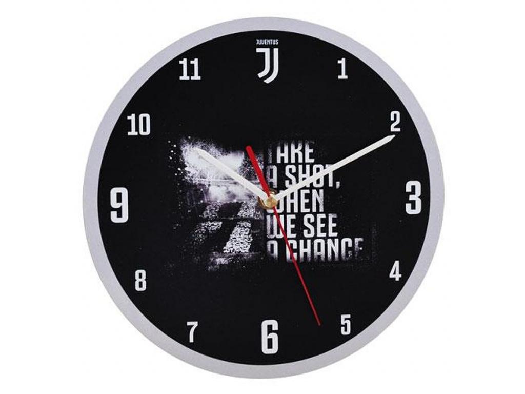 Nástěnné hodiny Juventus Turín slogan