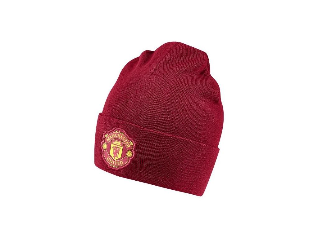 Zimní čepice Adidas Manchester United 3S woolie 18/19