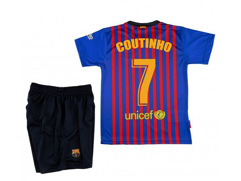 Set dres a šortky FC Barcelona Coutinho domácí 2018/19