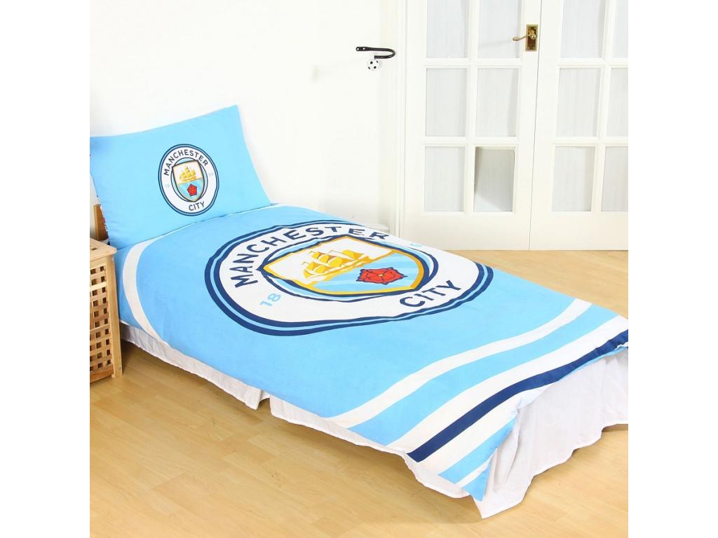 Povlečení Manchester City oboustranné 135x200cm, 50x75cm