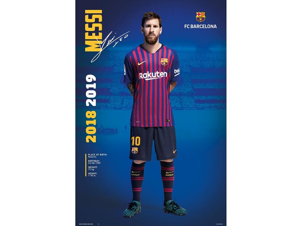 Plakát FC Barcelona 19 Messi 61x91cm