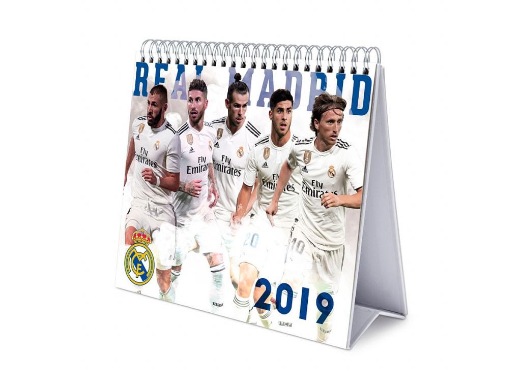 Stolní kalendář Real Madrid FC 2019
