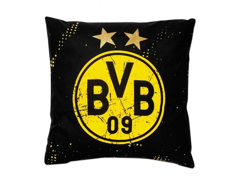 Polštářek Borussia Dortmund 40x40cm hvězdy