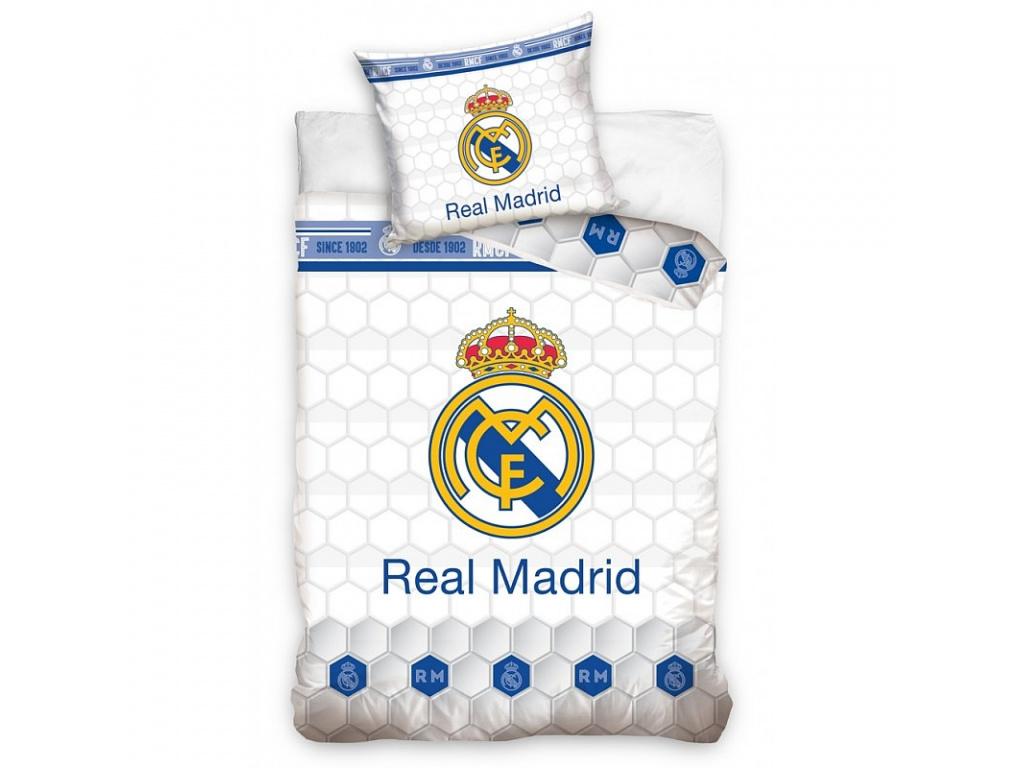 Povlečení Real Madrid FC white 140/200, 70/80 cm