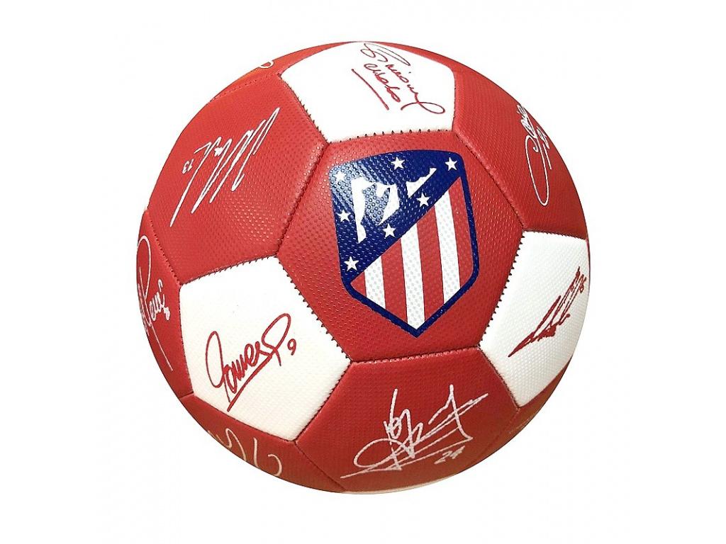 Fotbalový míč Atletico Madrid podpisy vel.5
