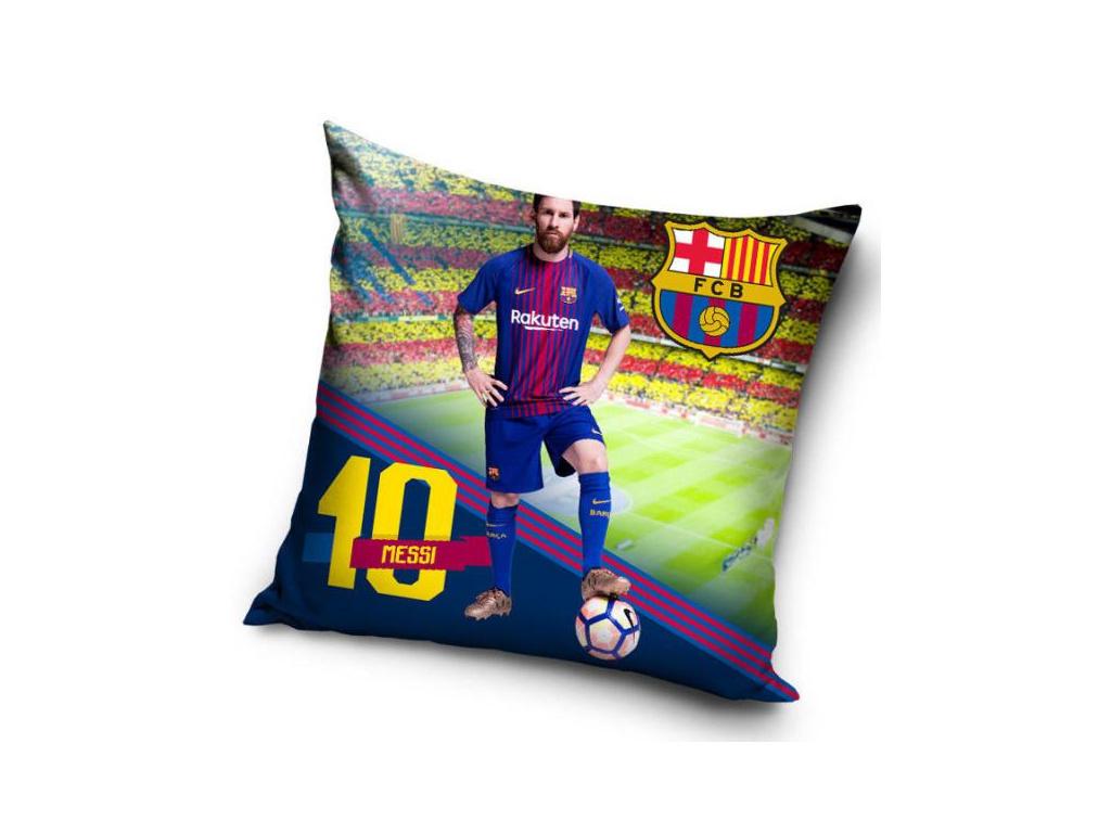 Povlak na polštářek FC Barcelona 18 Messi pose 40x40 cm