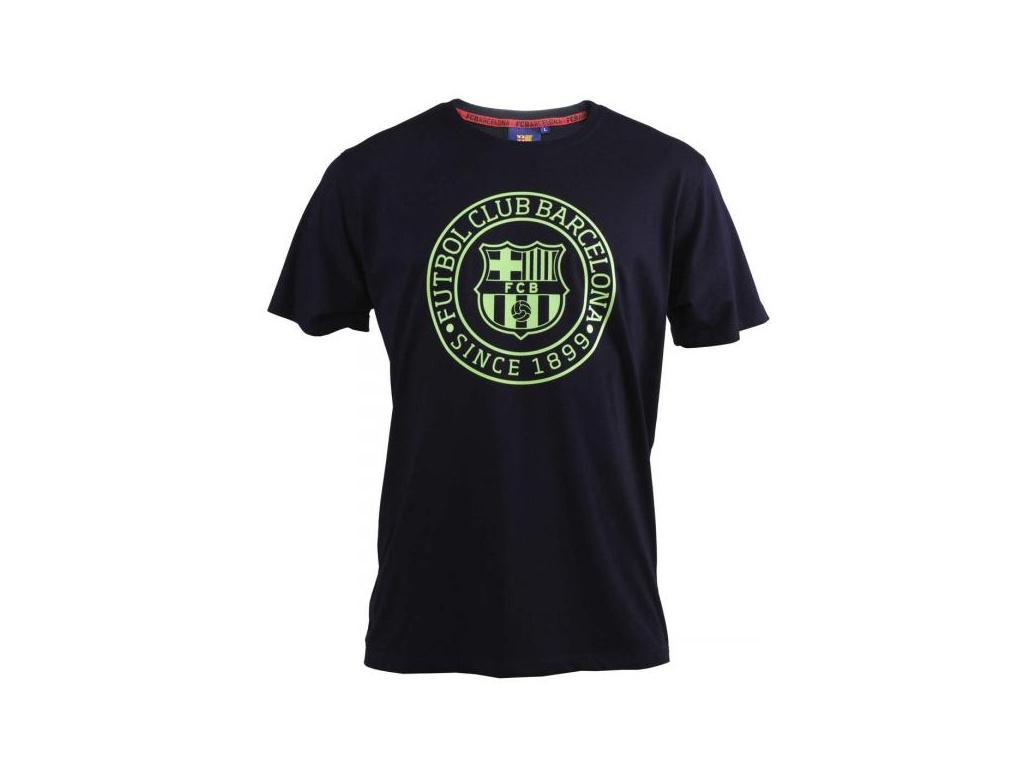 Tričko FC Barcelona core fluo navy