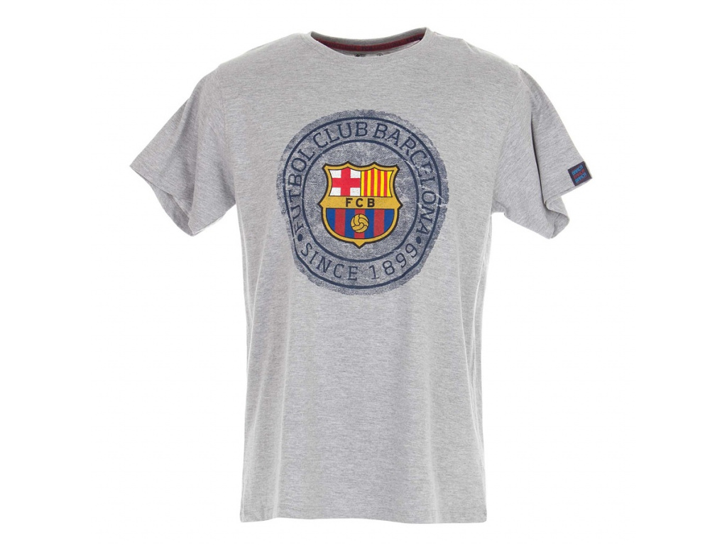 Tričko FC Barcelona seal šedé