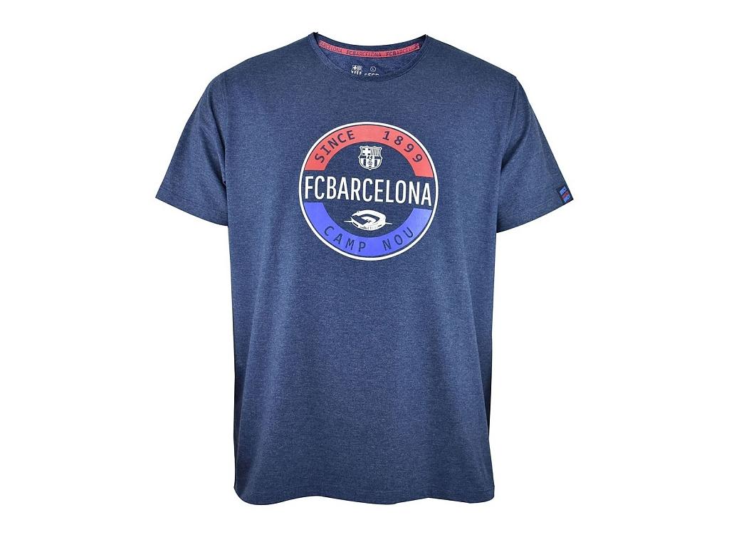Tričko FC Barcelona stamp modré