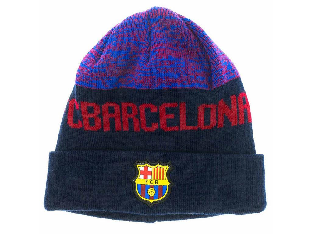 Zimní čepice FC Barcelona 18/19 navy