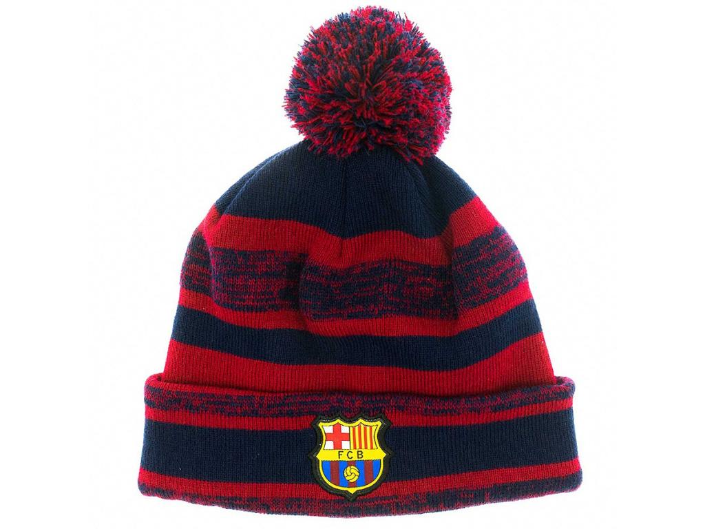 Zimní čepice FC Barcelona 18/19 grana