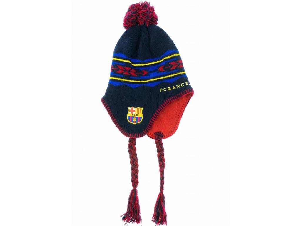 Zimní čepice FC Barcelona nordic
