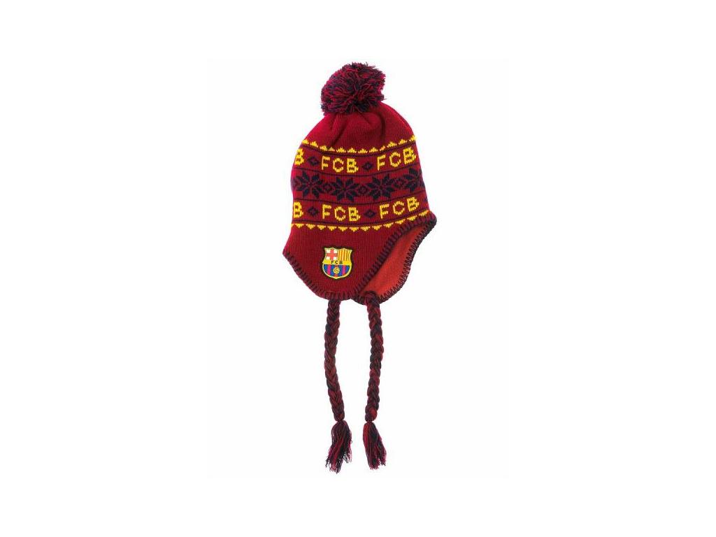 Zimní čepice FC Barcelona nordic grana