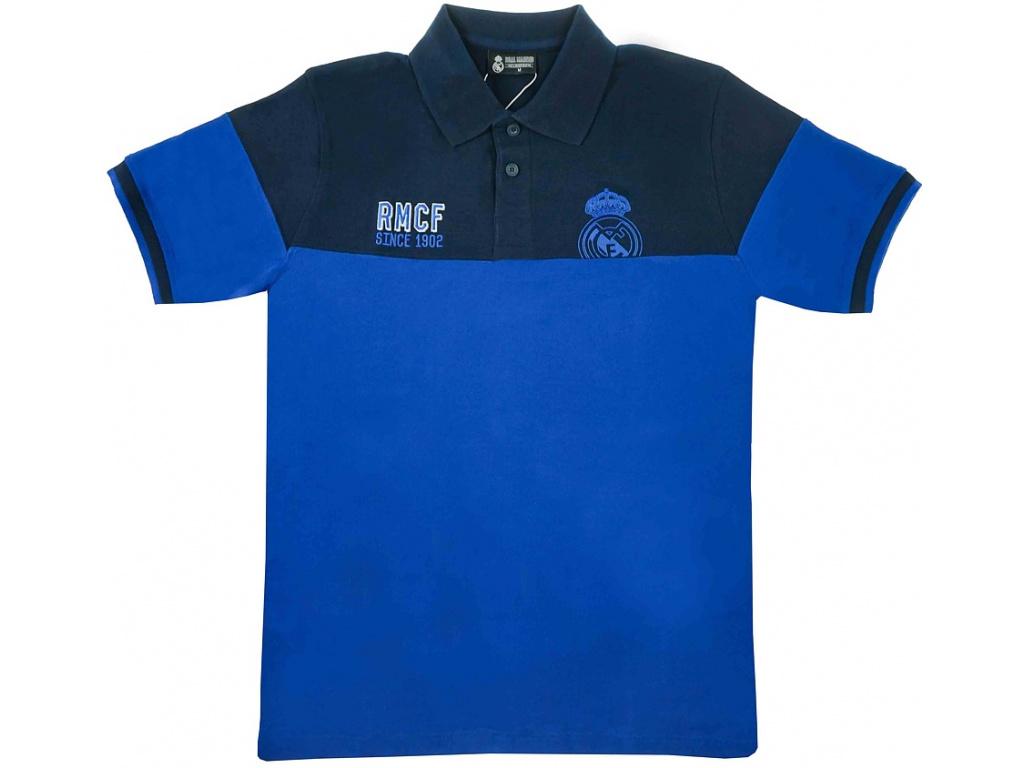 Pánské polo Real Madrid 18 blue-navy