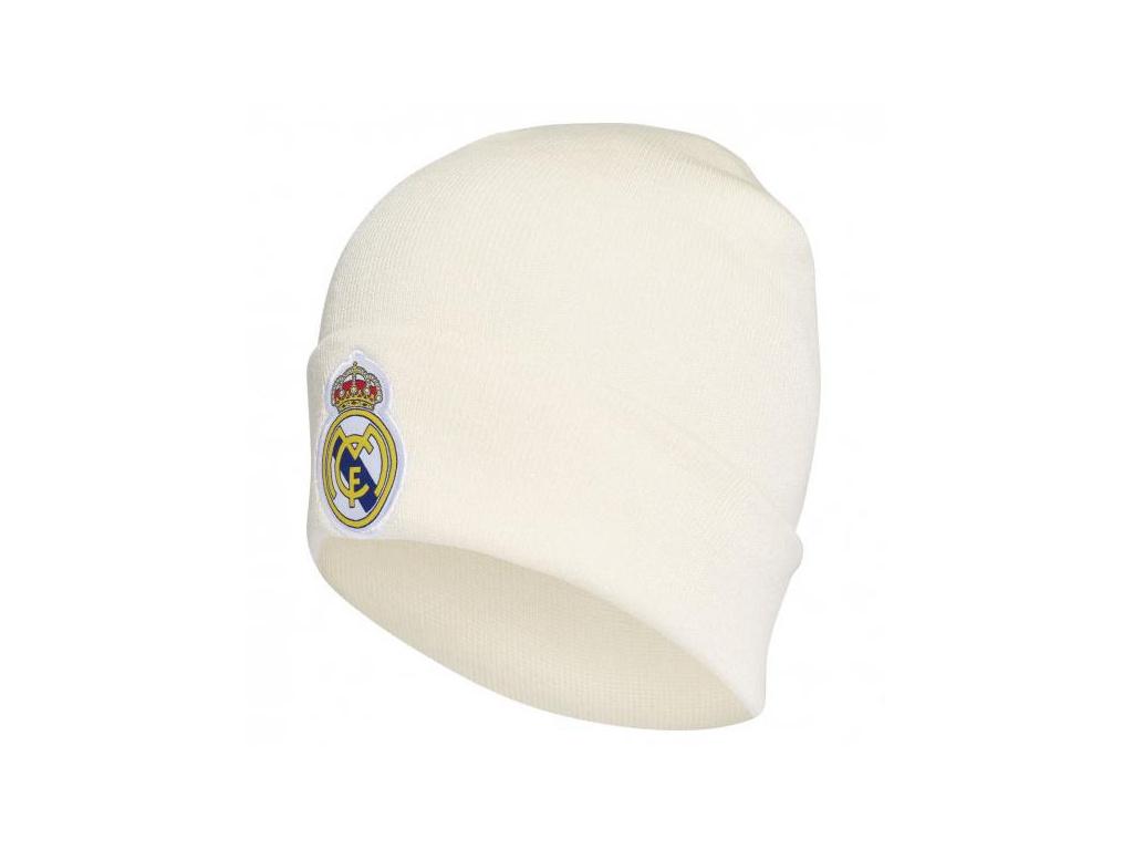 Zimní čepice Adidas Real Madrid 3S woolie 18/19 bílá JR