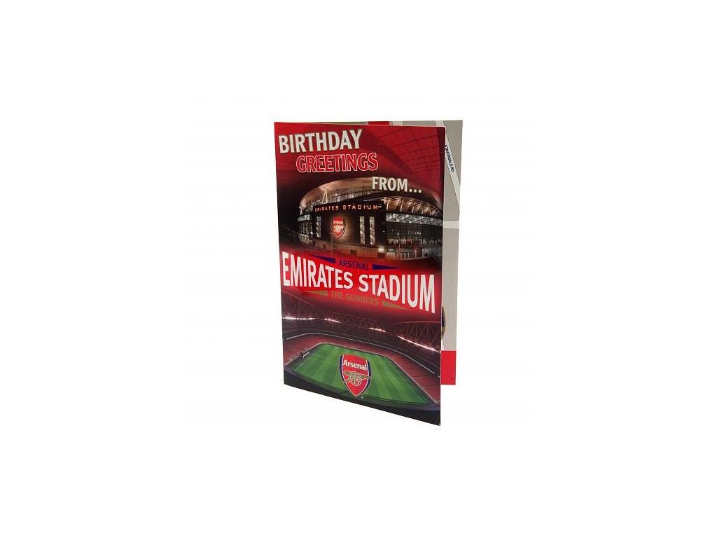 Blahopřání Arsenal FC pop-up