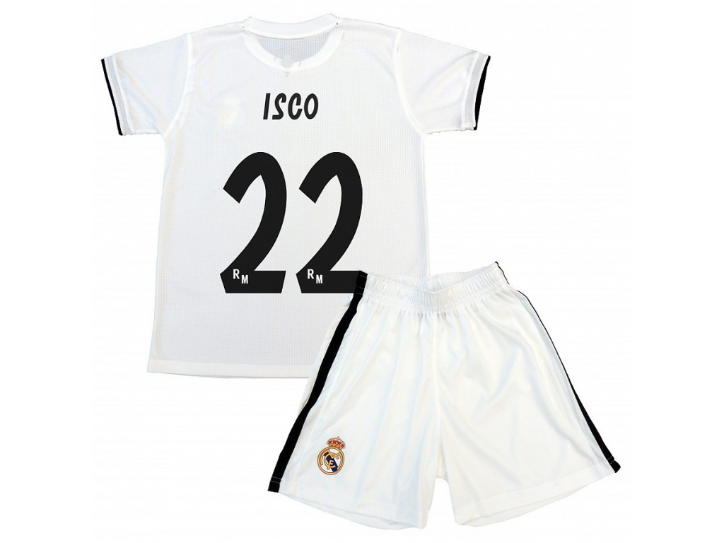 Set dres a šortky Real Madrid Isco domácí 2018/19