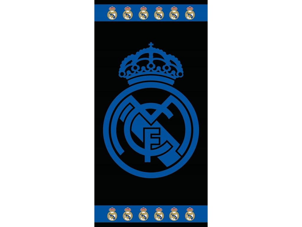 Luxusní osuška Real Madrid black 86x160cm