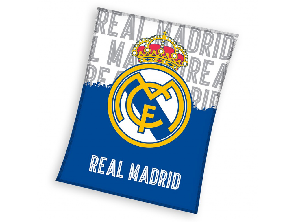 Fleecová deka Real Madrid 18 bílomodrá 130x160cm