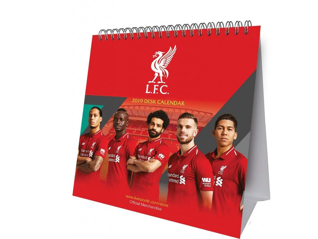 Stolní kalendář Liverpool FC 2019