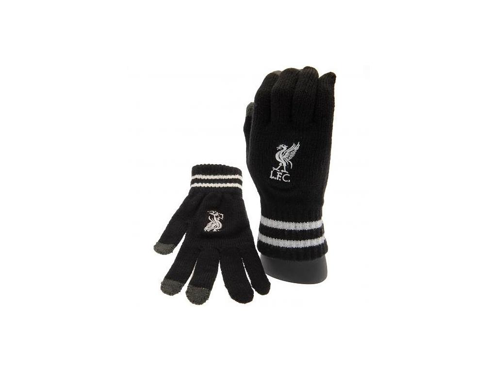 Pletené rukavice Liverpool FC černé
