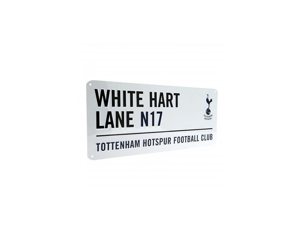 Plechová cedule Tottenham Hotspur bílá