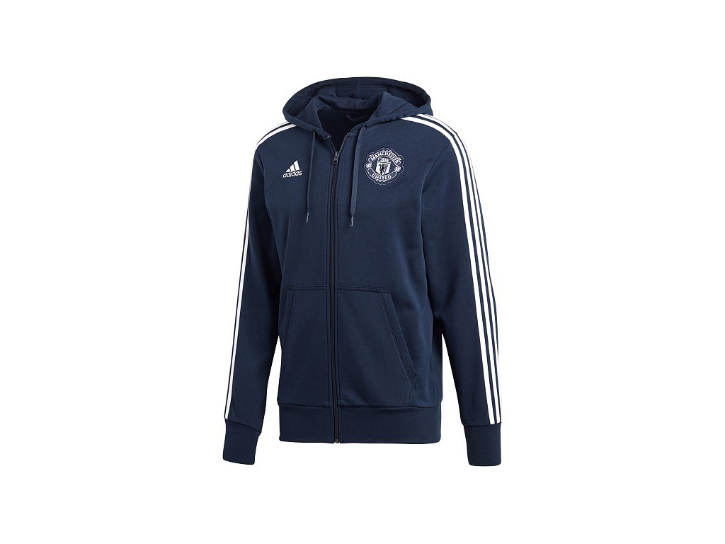 09702349dc Mikina Adidas Manchester United 18 19 modrá - Fotbalfans.cz