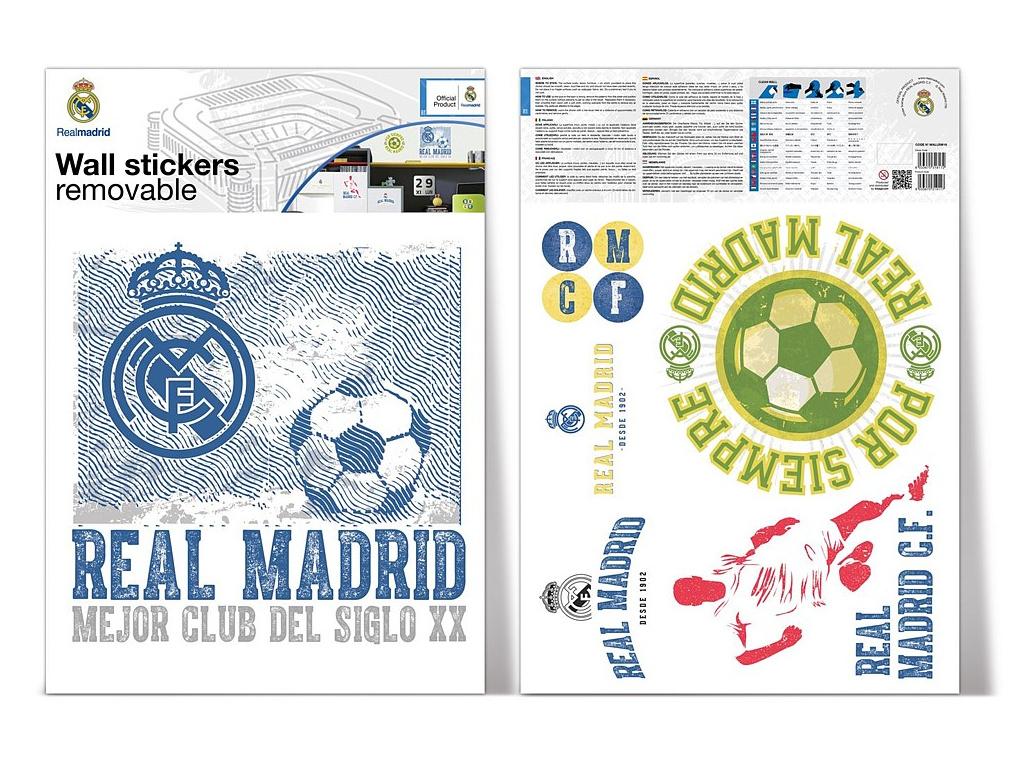 Samolepící dekorace Real Madrid vintage 2 archy A3