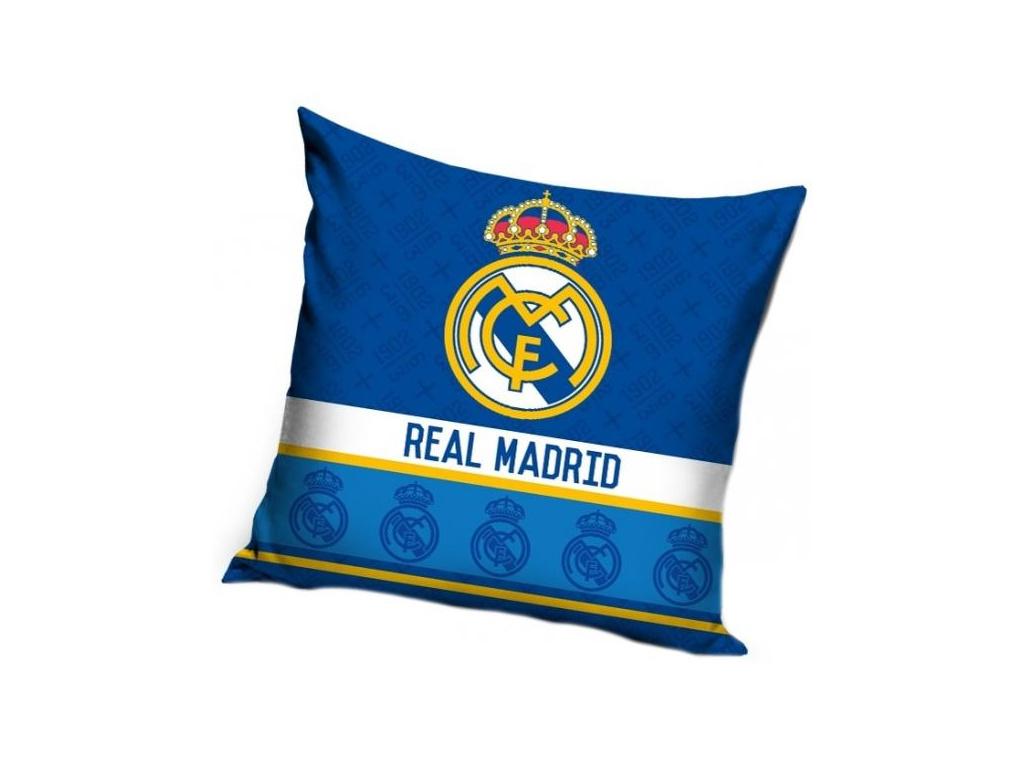 Povlak na polštářek Real Madrid 18 crests 40x40 cm