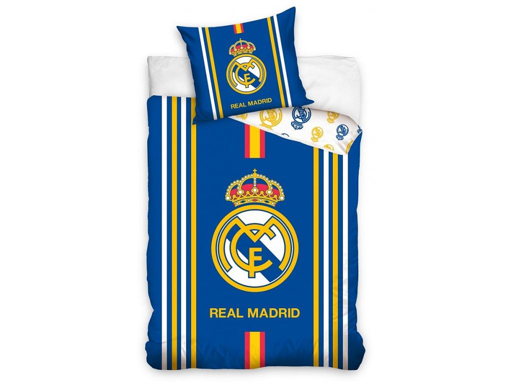 Povlečení Real Madrid 18 stripes 140/200, 70/80 cm