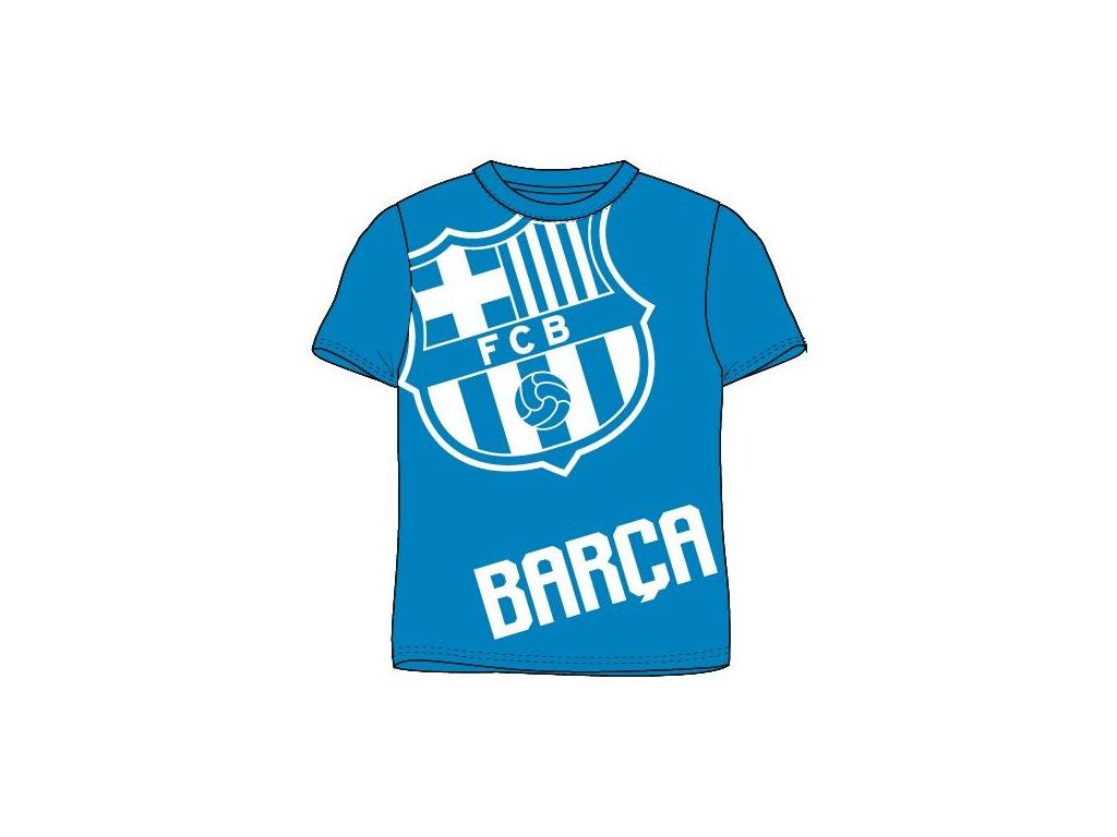Tričko FC Barcelona 18 crest modré
