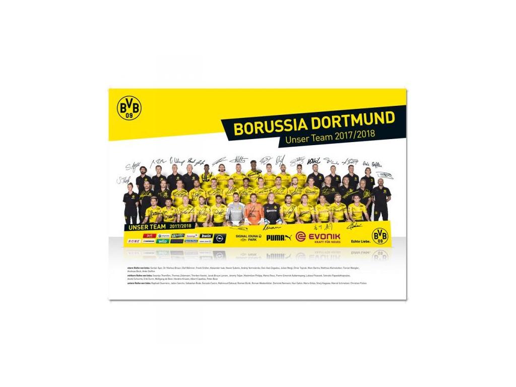 Plakát Borussia Dortmund team 2017/18