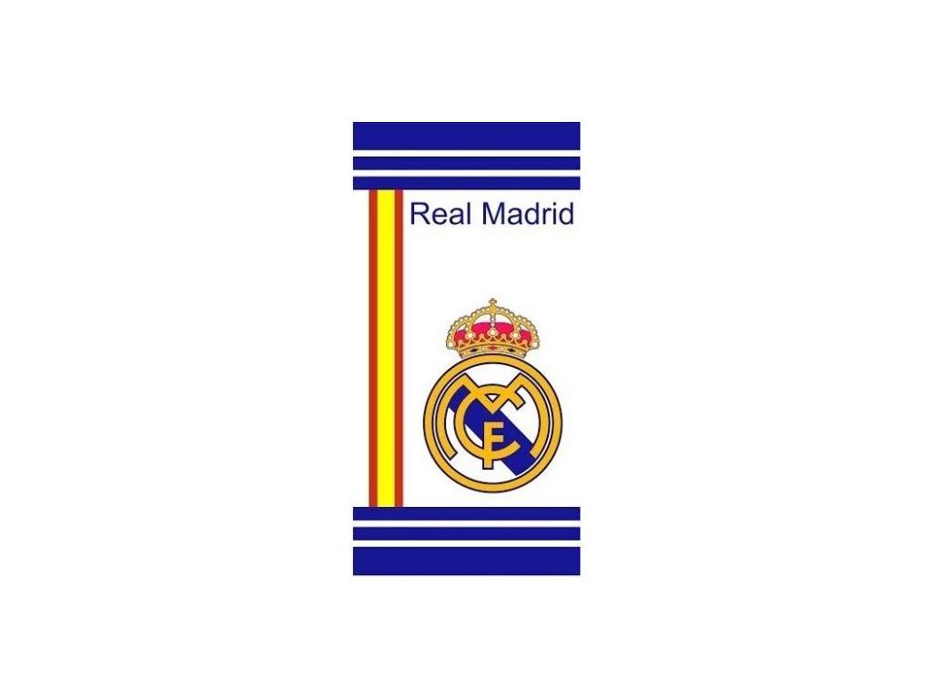 Osuška Real Madrid white 76x152cm