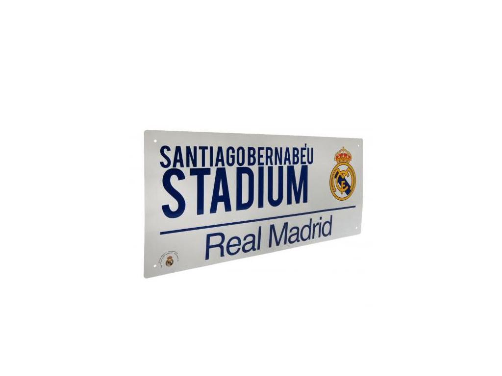 Plechová cedule Real Madrid street