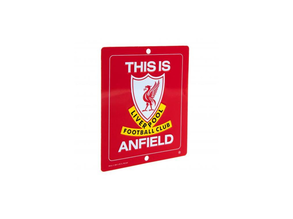 Plechová cedule na okno Liverpool FC