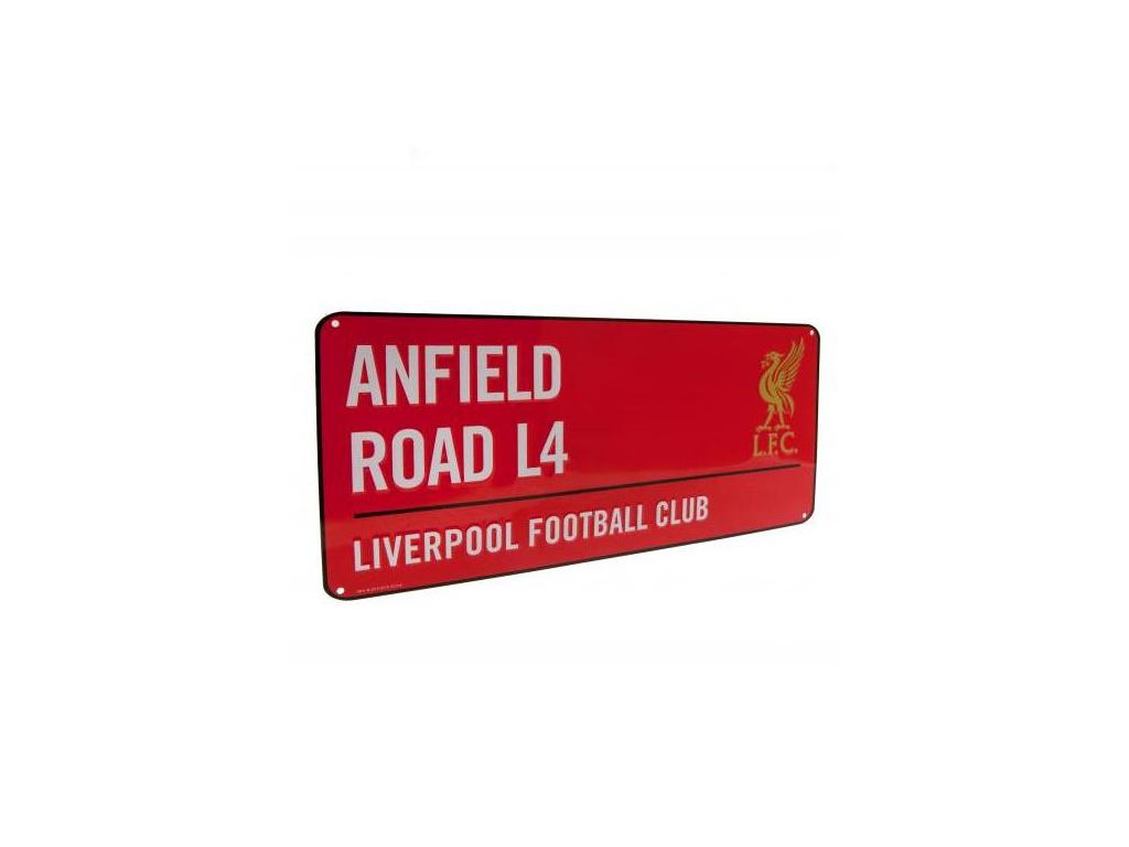 Plechová cedule Liverpool FC street červená
