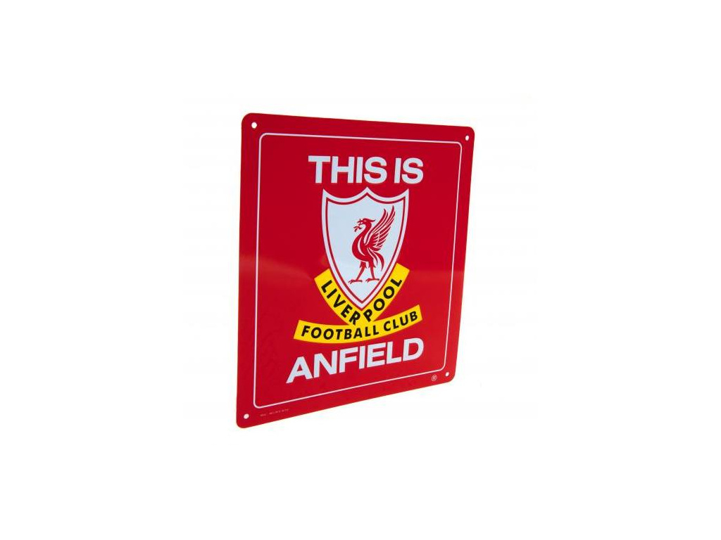 Plechová cedule Liverpool FC Anfield velká