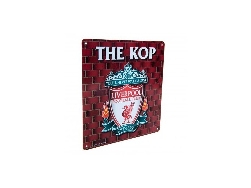Plechová cedule Liverpool FC KOP velká