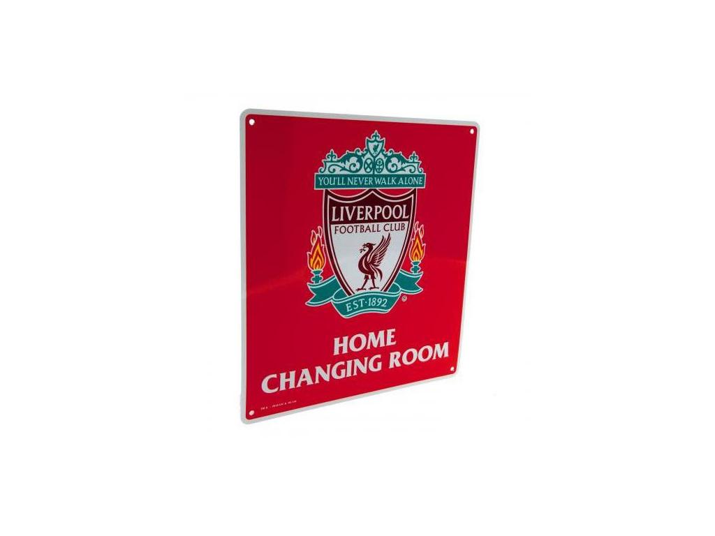 Plechová cedule Liverpool FC