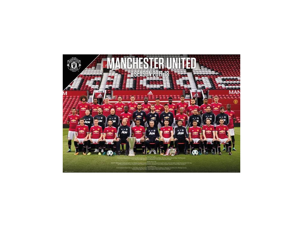 Plakát Manchester United team 17/18 61x91cm