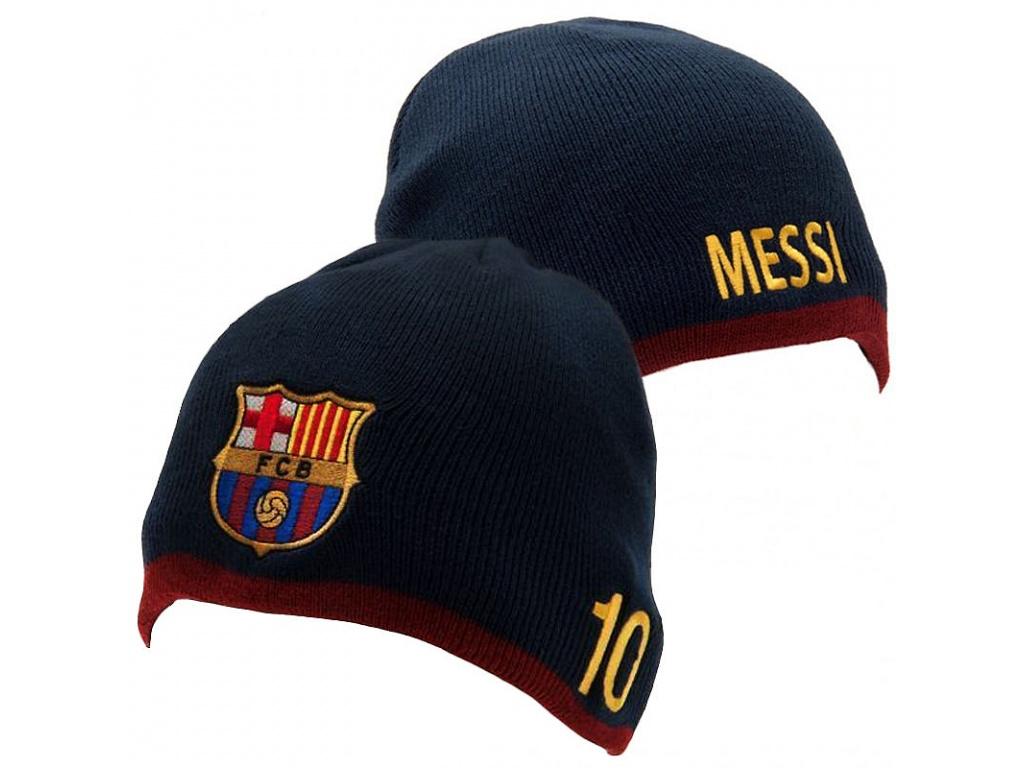 Zimní čepice FC Barcelona Messi